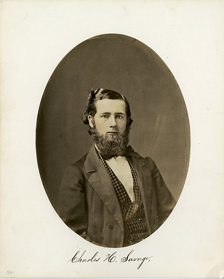 archival photo of Charles Savage
