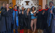 Nine graduating seniors from the Posse Foundation