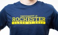 t-shirt reads University of Rochester Class of 2022