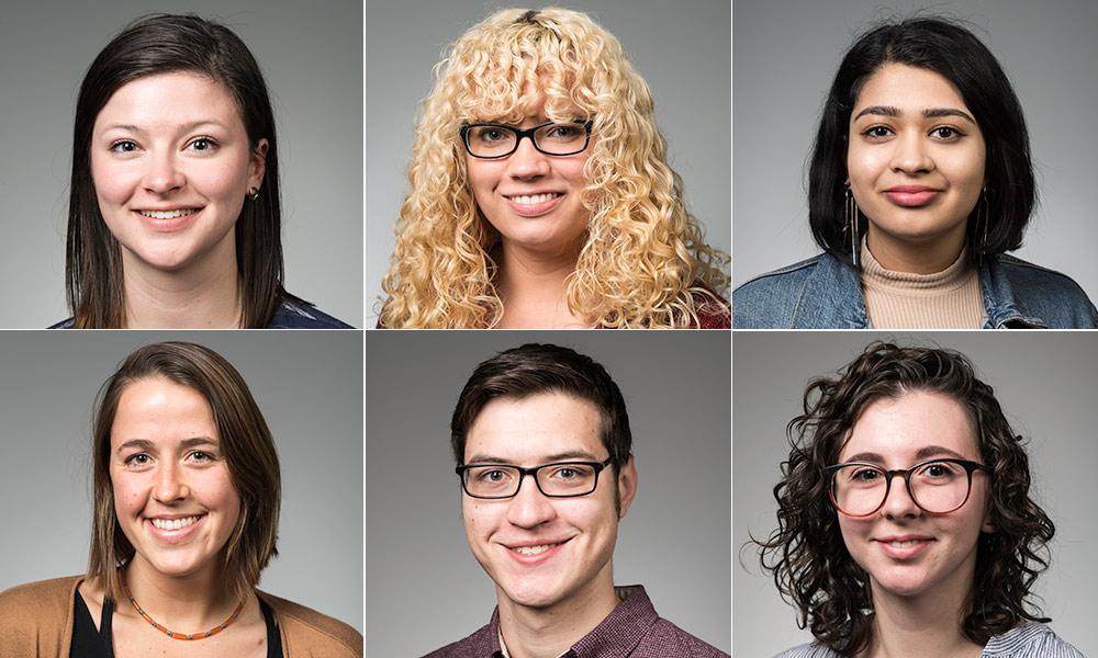 portraits of six students
