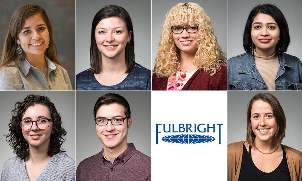 seven portraits of Fulbright scholarship winners