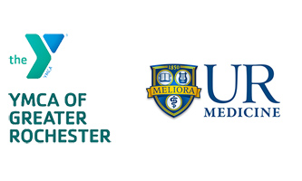 two logos: YMCA of Greater Rochester and UR Medicine