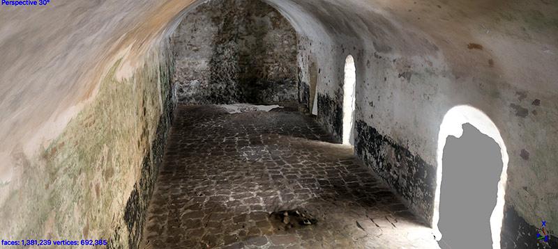 digital representation of a room inside a castle