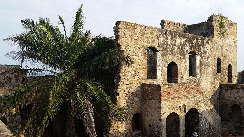 remains of Fort Amsterdam in Ghana