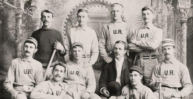 archival photo of University of Rochester baseball team