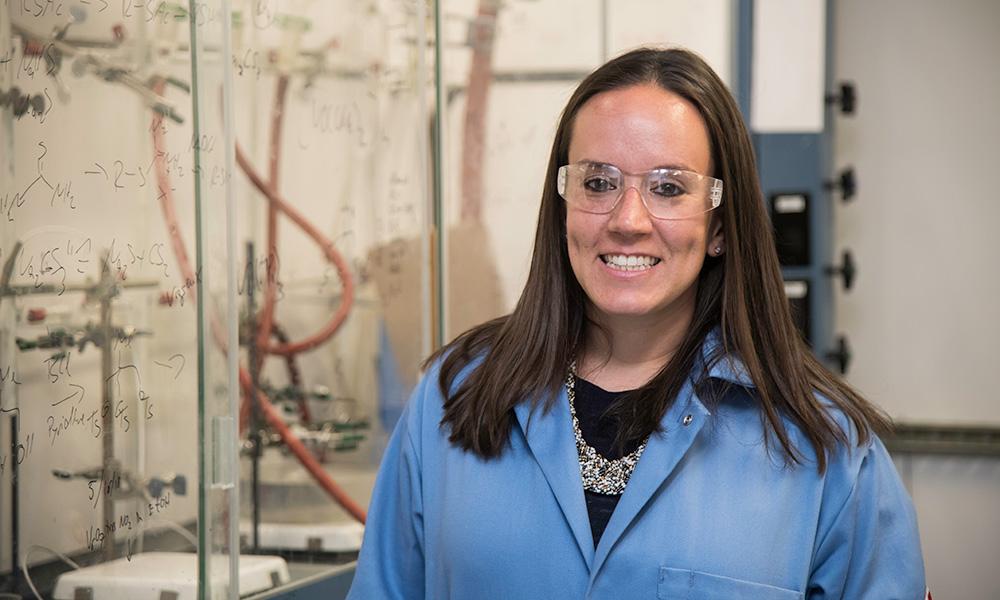 Ellen Matson in her lab