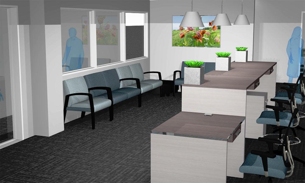 artist rendering of office space