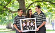'Full circle': Triplets born at Strong join Class of 2022