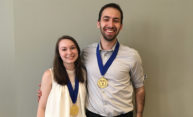 Two early members of the Medallion Leadership Society, a student leadership program