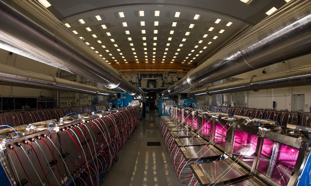 The main amplifiers at the Omega EP laser at the University of Rochester's Laboratory for Laser Energetics
