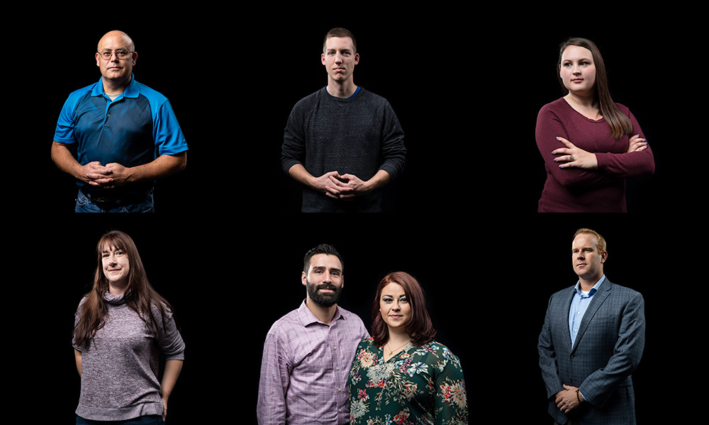 collage of six portraits of student veterans