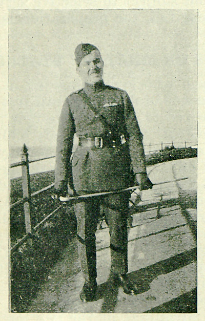 historical photo of Vernon Brown in uniform