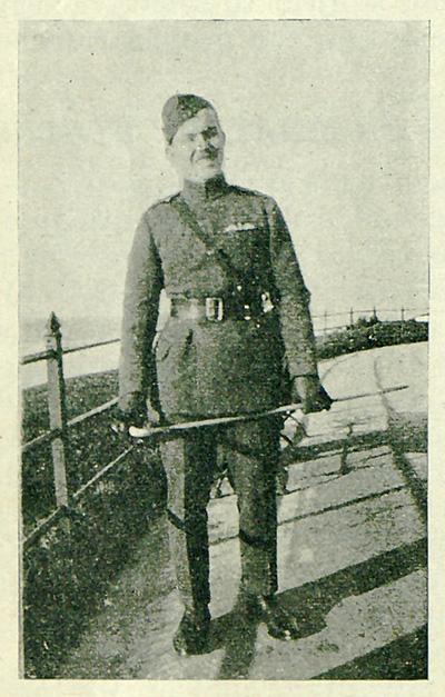 historical photo of Vernon Brown in uniform