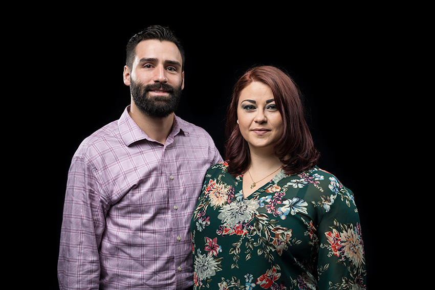 portrait of Zachary Byron and his wife Crystal