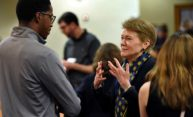 New president Sarah Mangelsdorf receives high praise from students, staff, faculty
