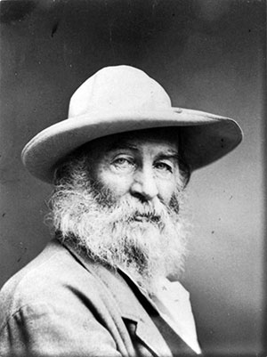 Walt Whitman's poetry often explored the question, what is belief