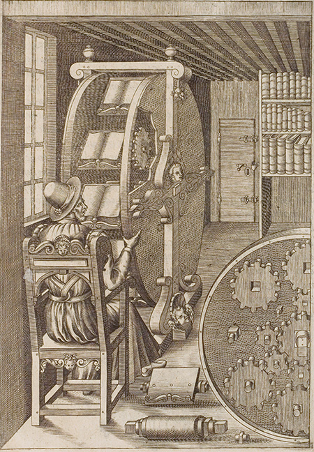 illustration of medieval book wheel.