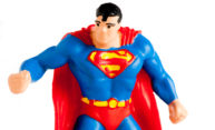 close-up of Superman action figure