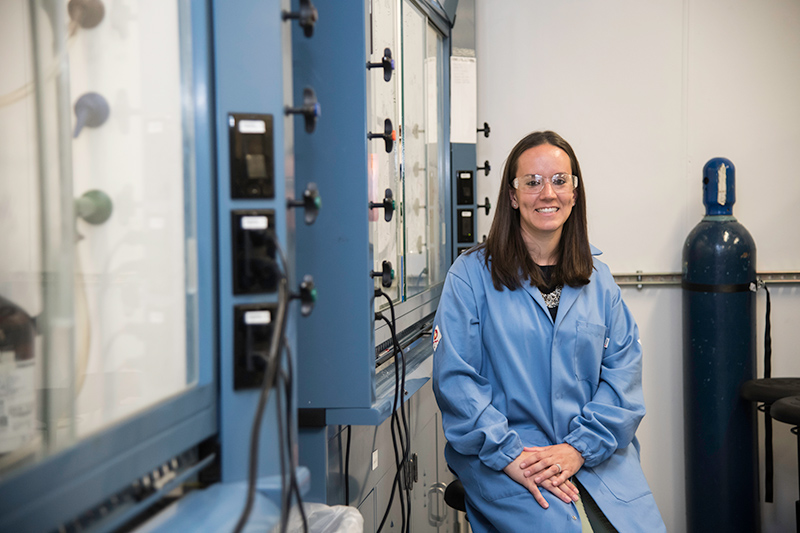 Ellen Matson poses in her lab.
