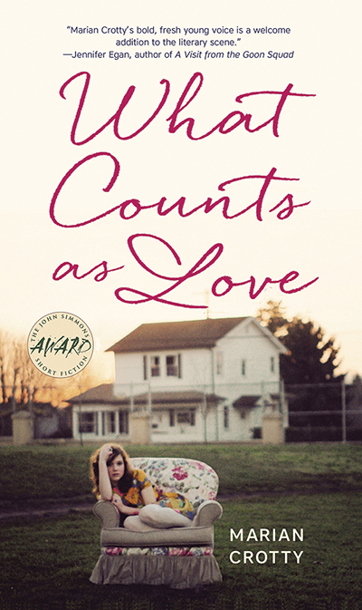 "book cover for Marian Crotty's ""What Counts As Love"""