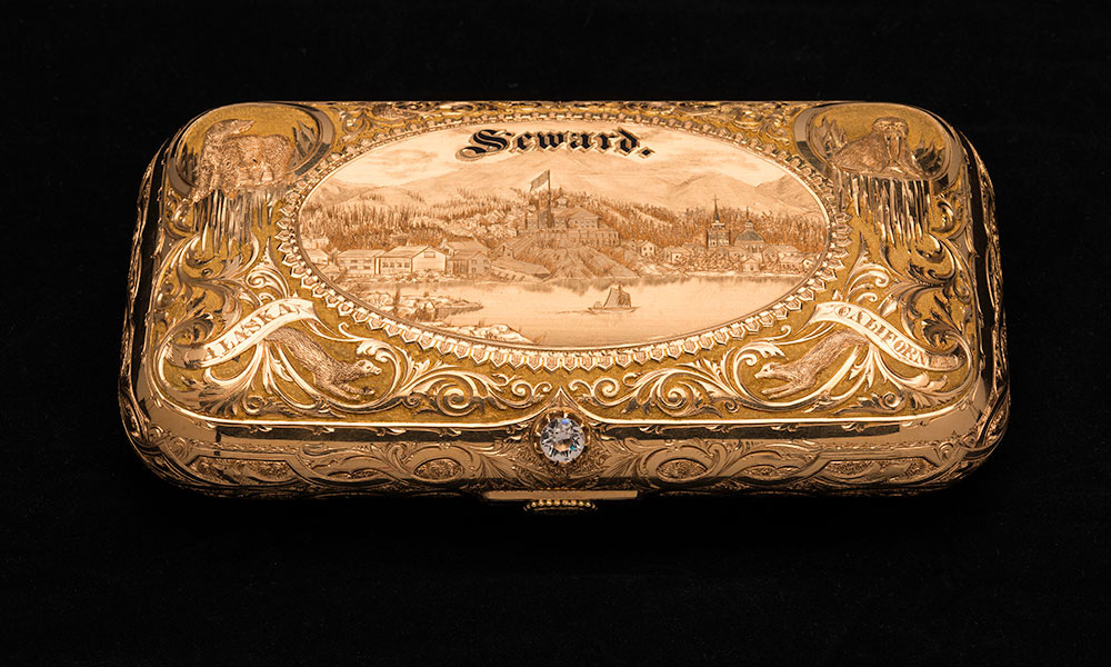 engraved snuff box