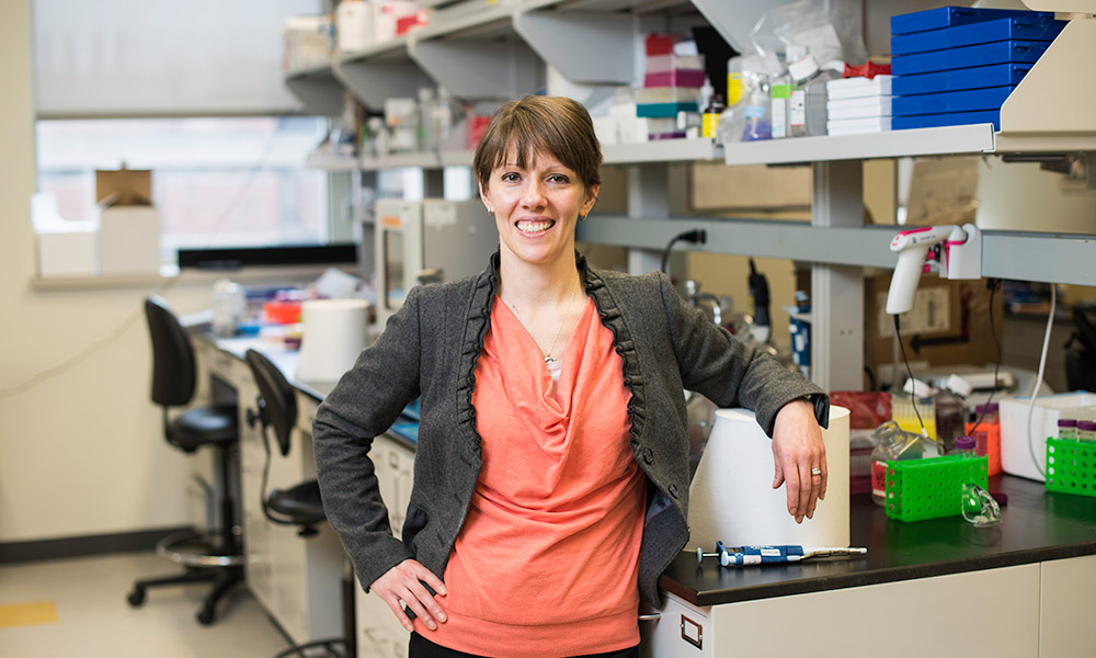 Danielle Benoit in her lab.