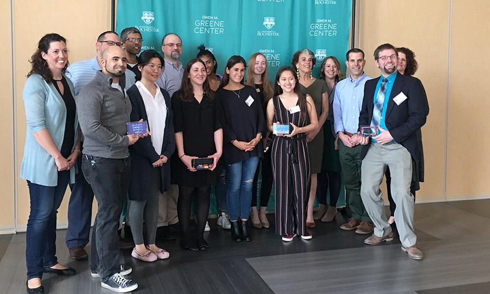 group portrait of award winners.