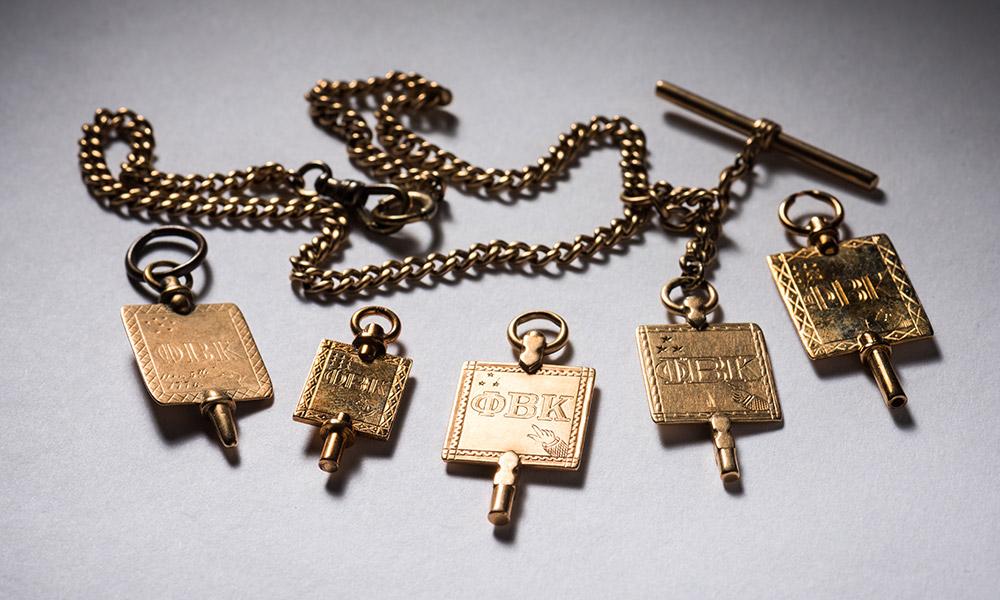 collection of Phi Beta Kappa keys