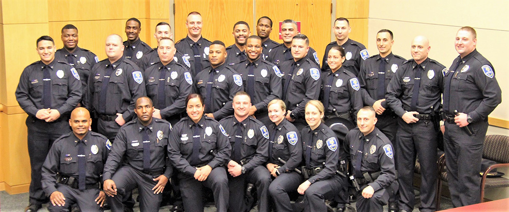 posed photo of peace officers.