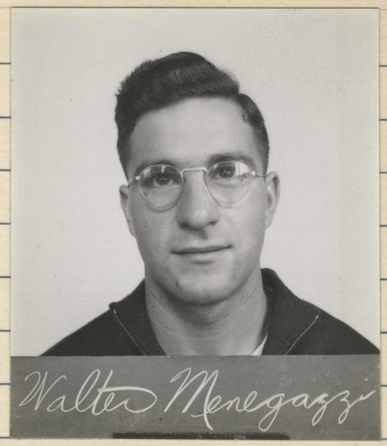 archival photo of Walter Menegazzi