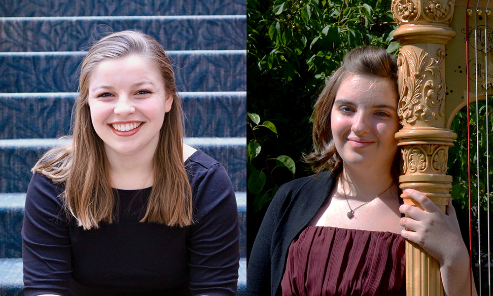 headshots of two students