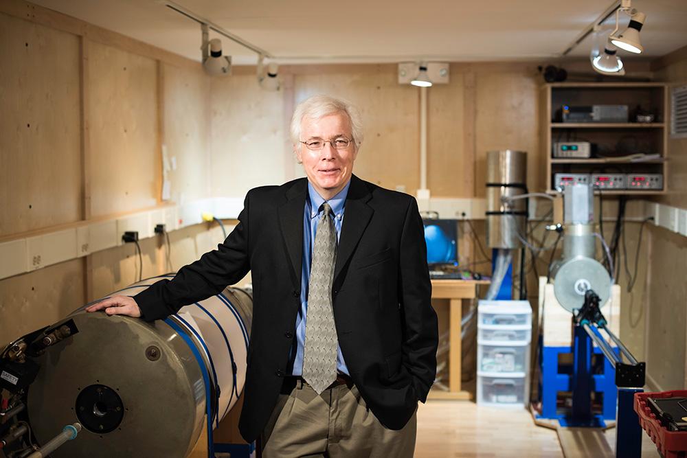 John Tarduno in his lab