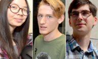 portraits of three individual students