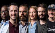 six portraits of veteran students.