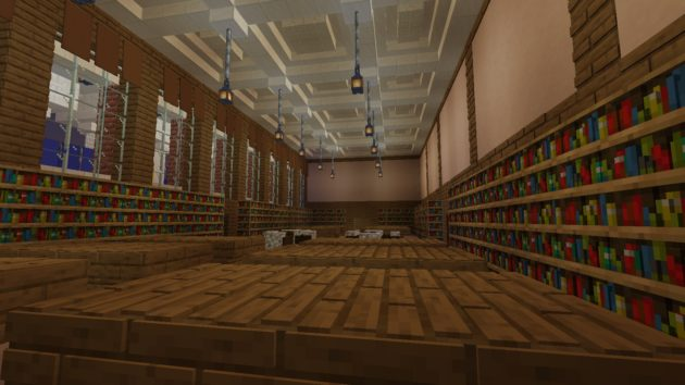image of Messinger Periodical Room rendered in Minecraft