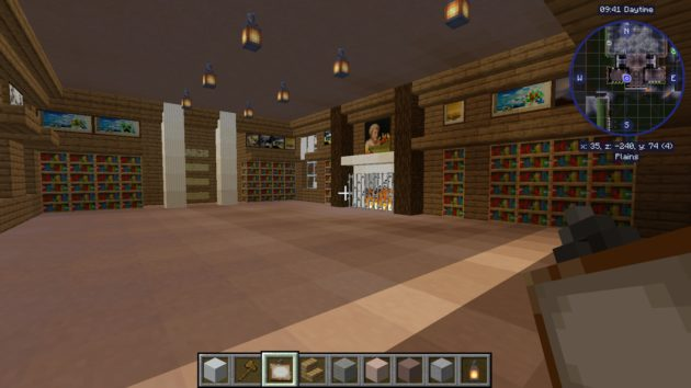 illustration of the Welle-Brown Room rendered in Minecraft