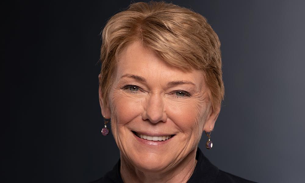 portrait of President Sarah Mangelsdorf.