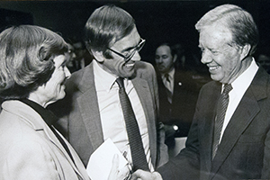 photo of Nancy and Dick Fenno with Jimmy Carter