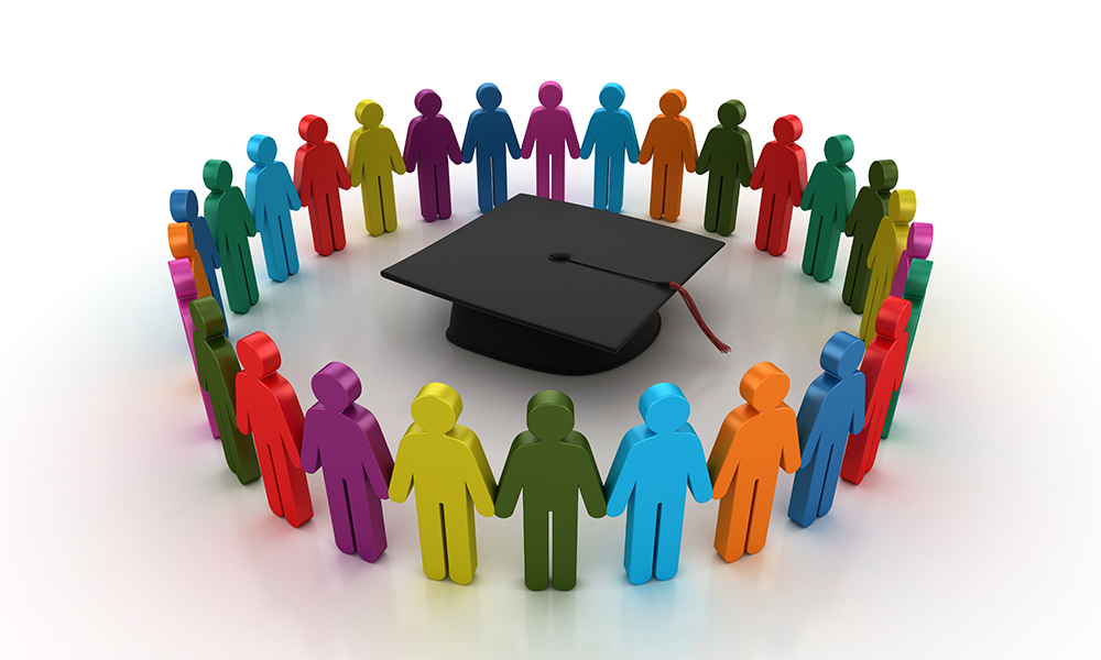 community surrounding mortarboard