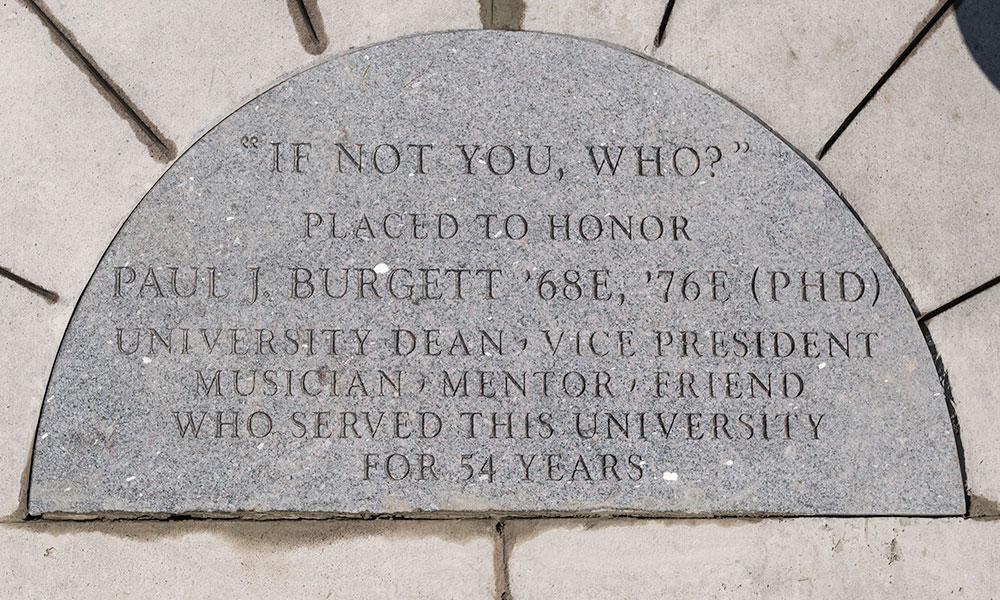memorial marker for Paul Burgett