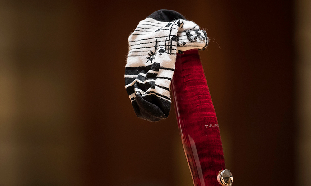 sock covering spout of bassoon