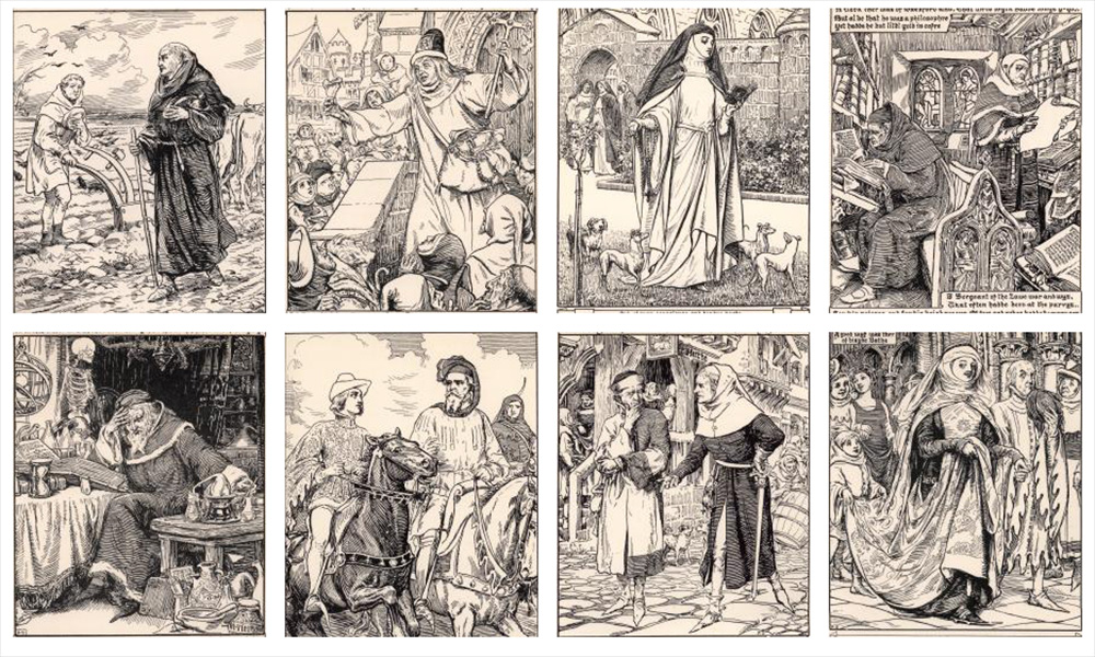 illustrations of Chaucer's work