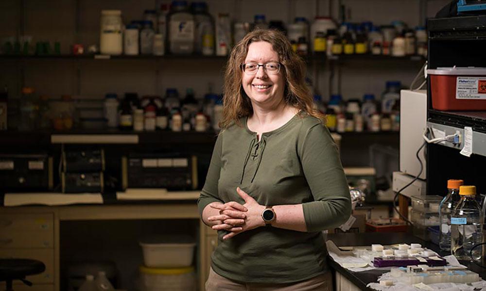 Anne S. Meyer in her lab.