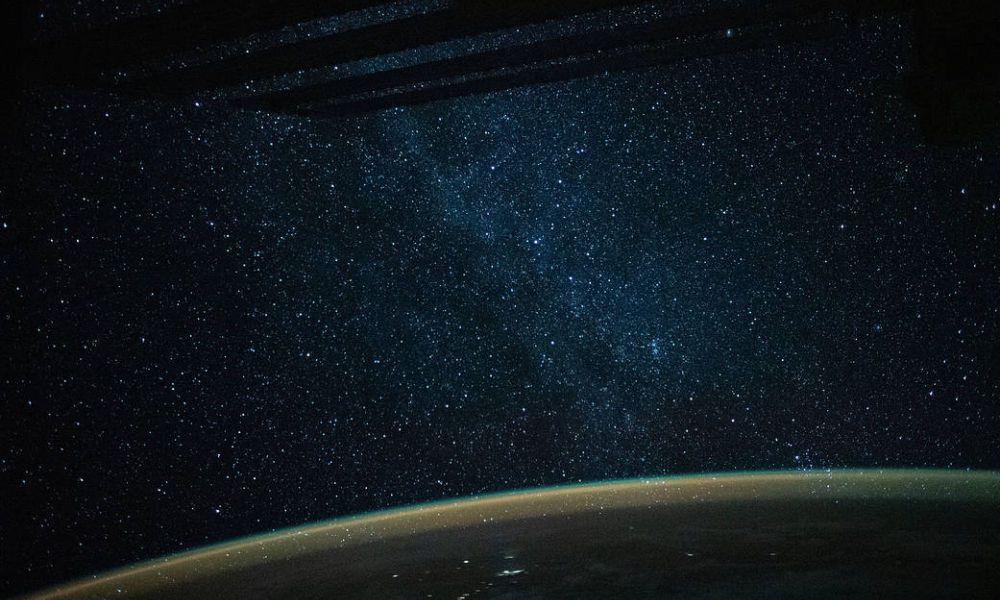 milky way as seen from the international space station.