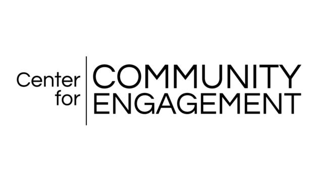 "Wordmark depicting ""Center for Community Engagement."""