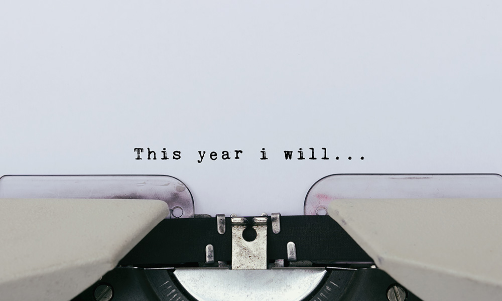 typewriter text that reads this year I will