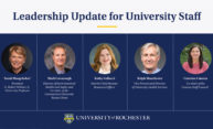 University leaders share updates for staff