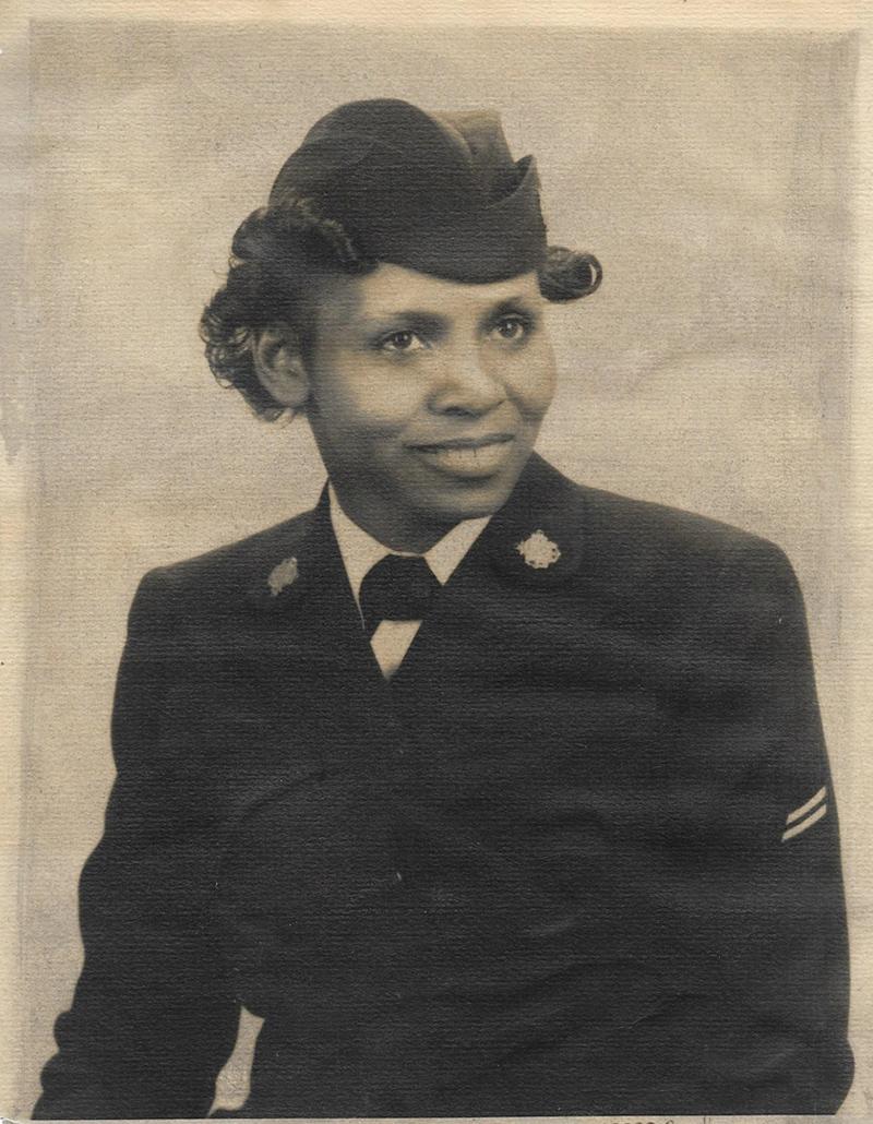 historical image of Olivia Hooker in a Coast Guard uniform