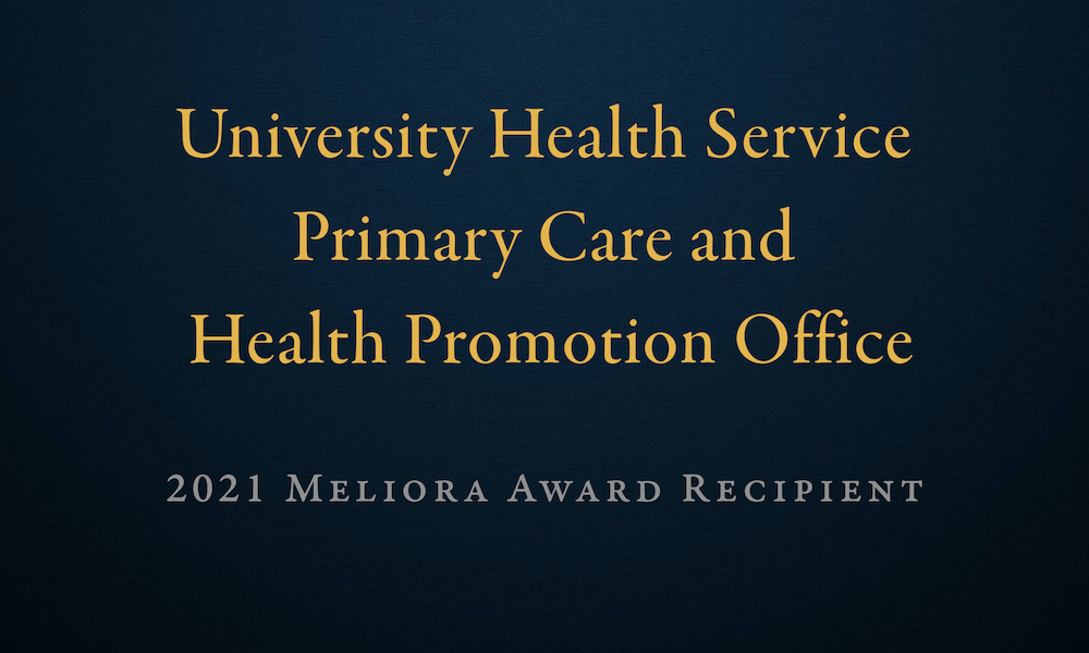 graphic that reads University Health Service Primary Care and Health Promotion Office