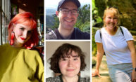 four portraits of graduate students.